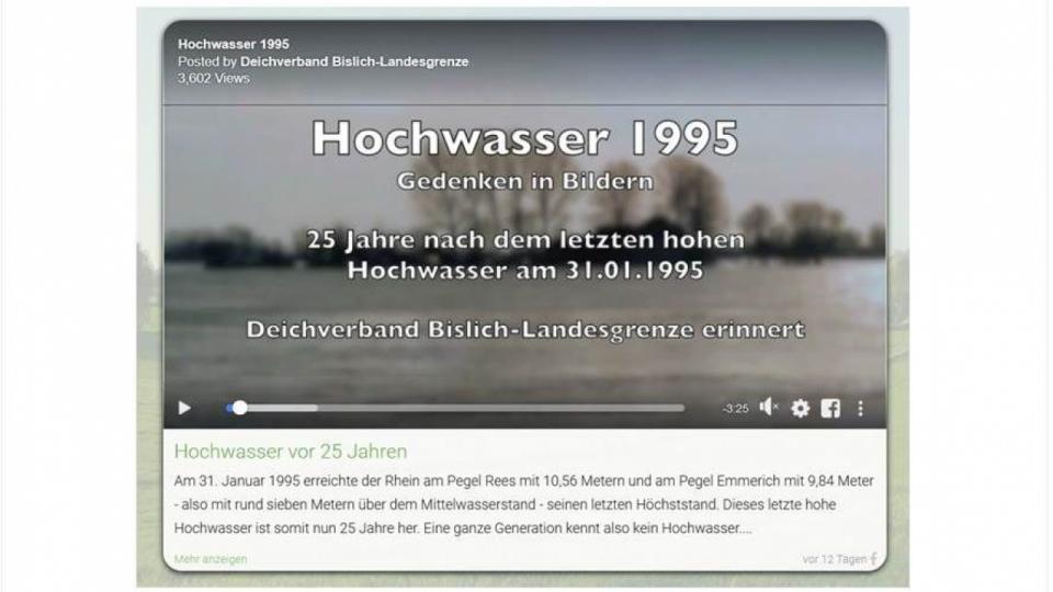 Deichverband Bislich erinnert an Hochwasser 1995