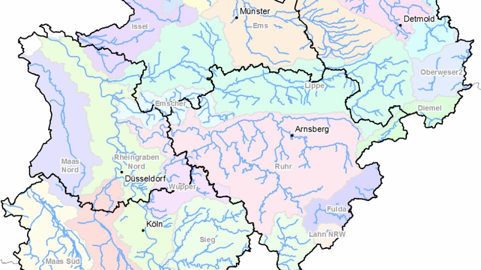 Karte der Risikogewässer 2018
