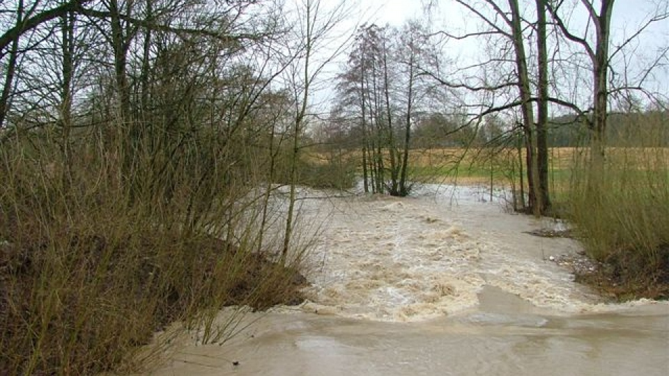 Hochwasser an der Berkel bei Coesfeld an der Alten Mühle Ahlert
