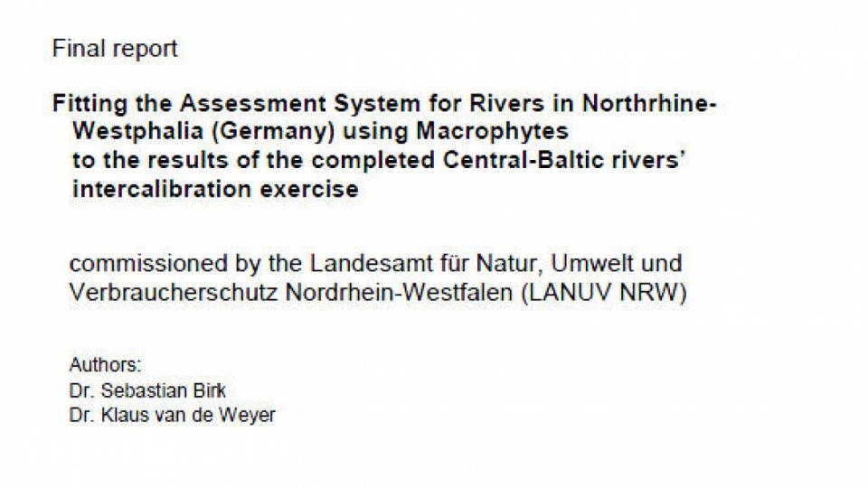 Interkalibrierung des NRW-Verfahrens Makrophyten