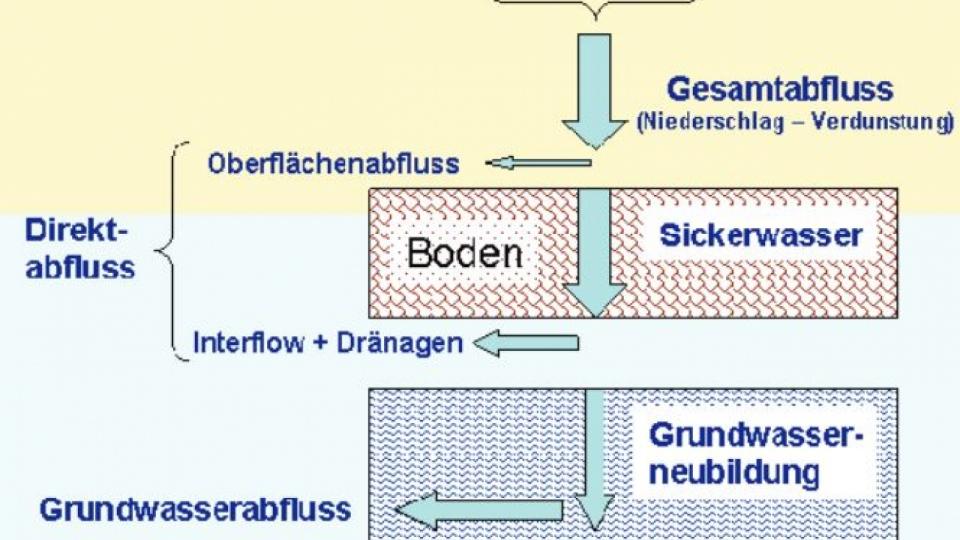 Die Komponenten des Abflusses