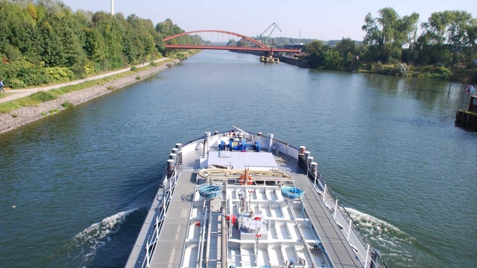 Der Rhein-Herne-Kanal in Essen