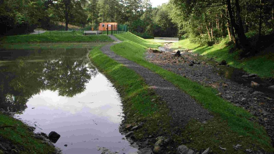 Regenrückhaltebecken am Rosentalbach
