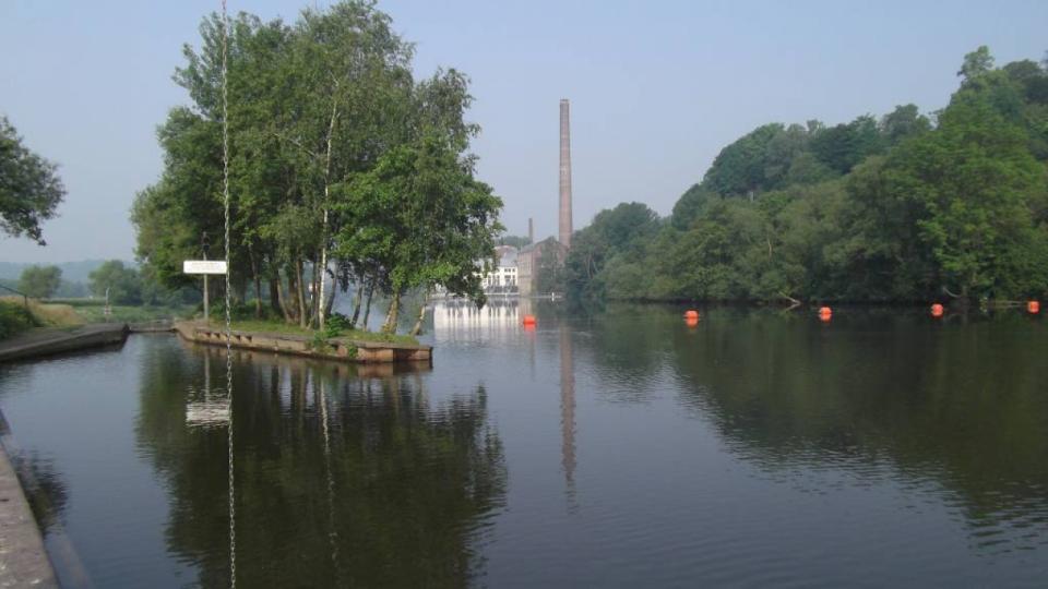 Schleuse in Essen-Horst am Wehr Vogelsang