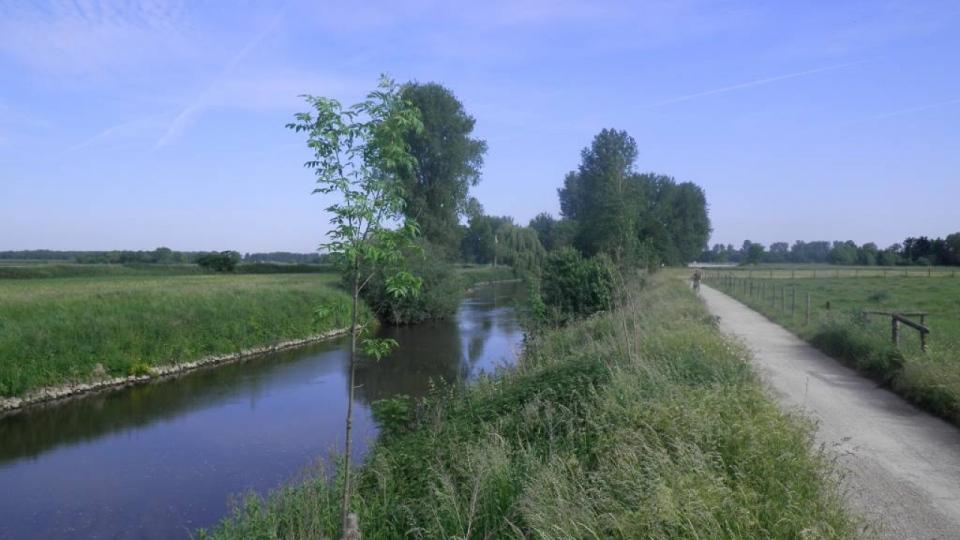 Die Rur kurz vor der niederländischen Grenze