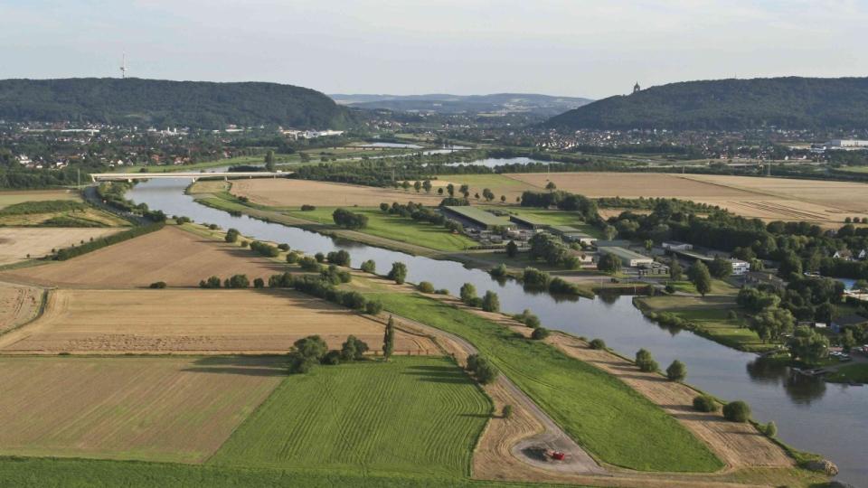 Die Weser bei Porta Westfalica