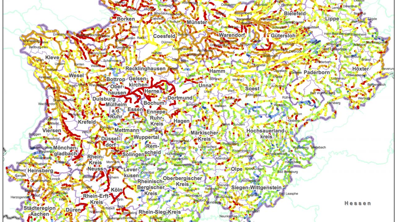 Gewässerstrukturkarte NRW 2013