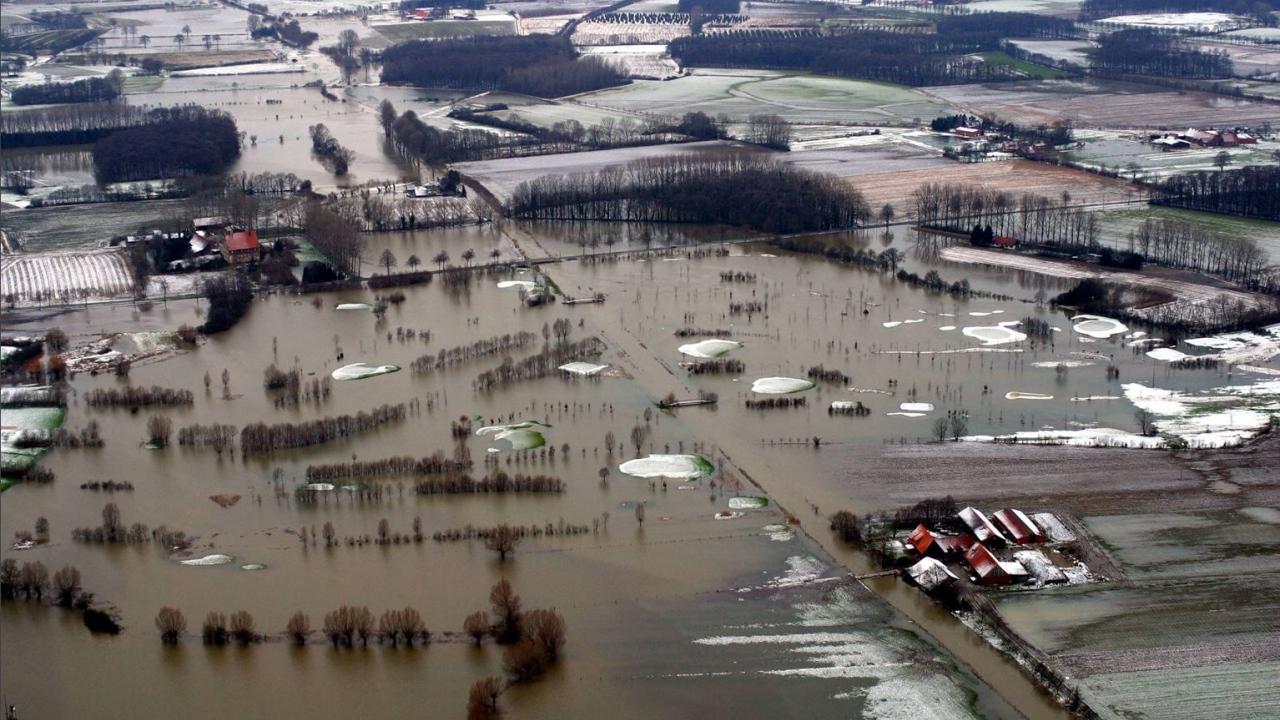 Hochwasser an der Werse 2002