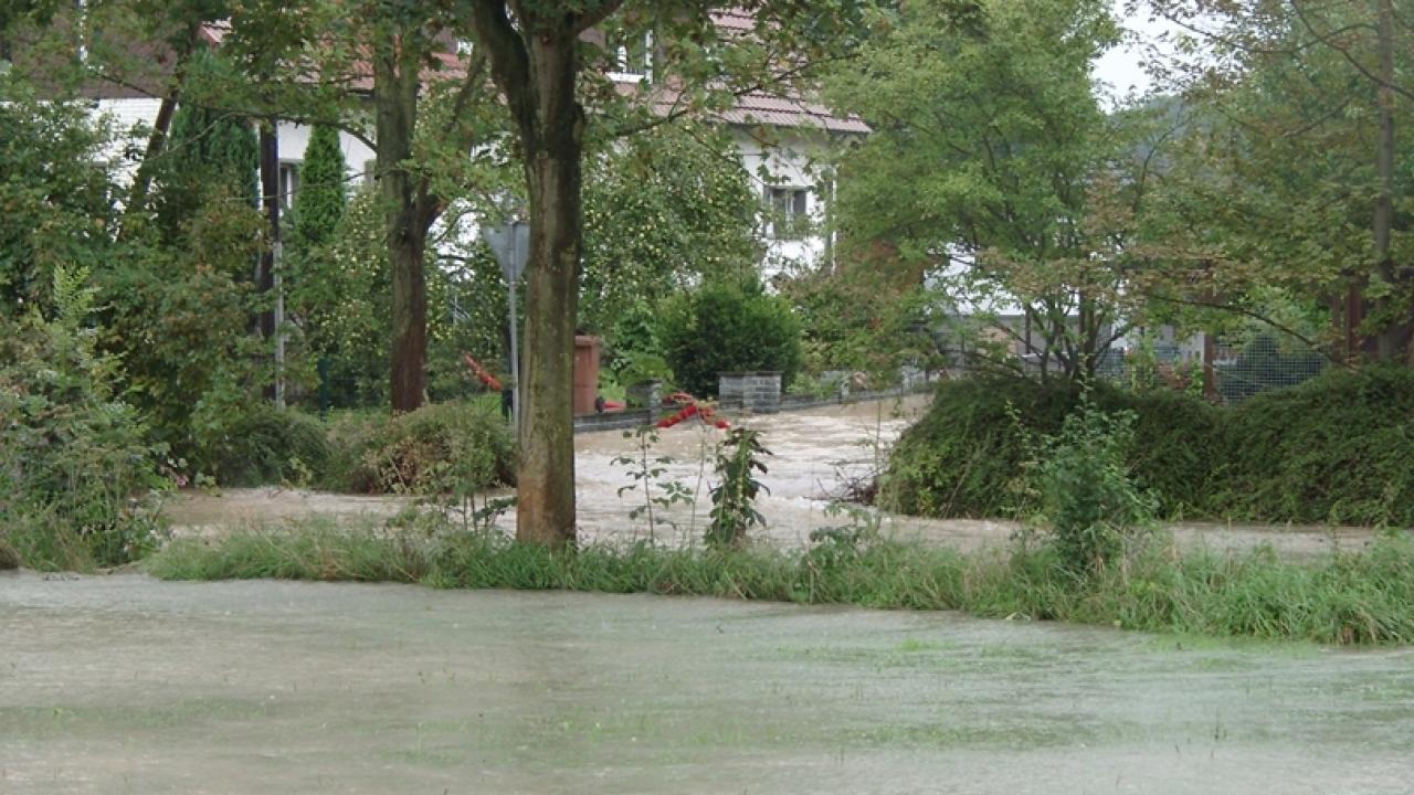 Hochwasser an der Gieseler in Lippstadt