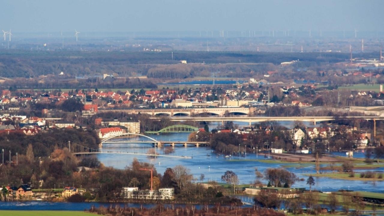 Hochwasser an der Weser – 2011 in Minden