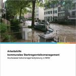Titelseite Arbeitshilfe Kommunales Starkregenrisikomanagement 2018
