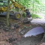 Maßnahme zur Herstellung der Durchgängigkeit an der Bruch Beeke