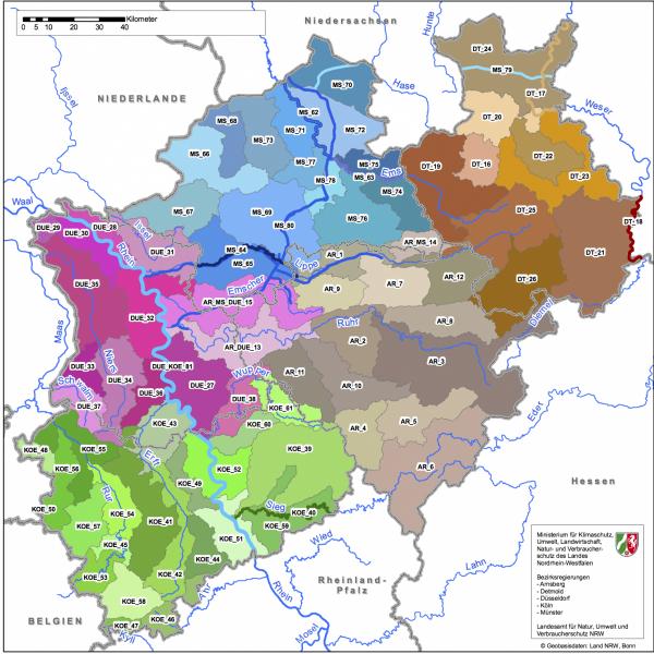 Karte der Kooperationsgebiete 2010