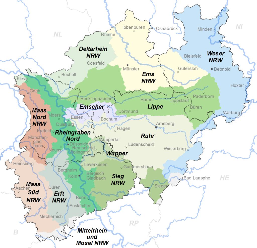 Karte NRW BR FEG
