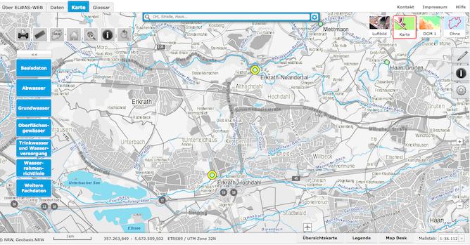 ELWAS-WEB Tutorial Kartenansicht