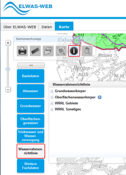 Screenshot von Elwas-Web