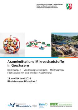 Titelseite Programmflyer Fachtagung Mikroschadstoffe 2018